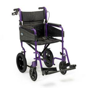 Escape Lite Lightweight Wheelchair - Purple - Narrow