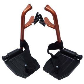 Escape Lite Wheelchair - Transit - Orange - Replacement Footrests