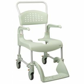 Etac Clean Mobile Shower / Commode Chair (49cm) - Attendant (Green)