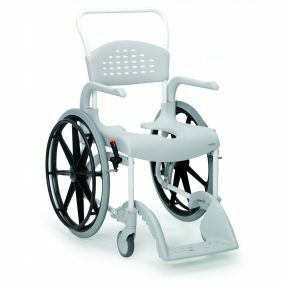 Etac Clean Mobile Shower / Commode Chair (55cm) - Self Propelled - Grey