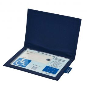 Cloth Blue Badge Wallet - Navy (European Permit)