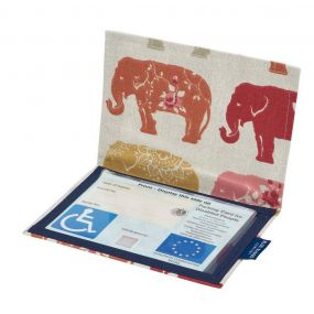 Cloth Blue Badge Wallet - Nelly Elephant (European Permit)
