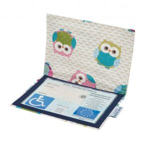 Cloth Blue Badge Wallet - Owls(European Permit)