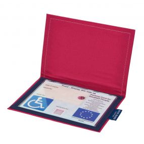 Cloth Blue Badge Wallet - Pink Panama (European Permit)