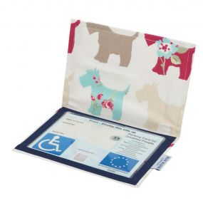 Cloth Blue Badge Wallet - Scotties (European Permit)
