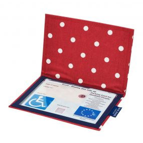 Cloth Blue Badge Wallet - Spotty Red (European Permit)