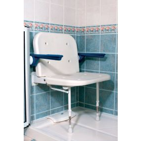 Extra Wide Shower Seat Non padded With Padded Arms