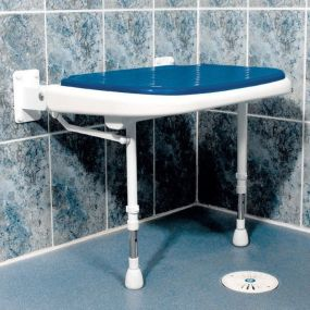 Extra Wide Padded Shower Seat - Blue