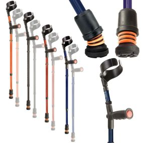 Flexyfoot Double Adjustable Crutches
