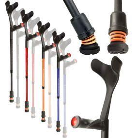 Flexyfoot Comfy Grip Open Cuff Crutches
