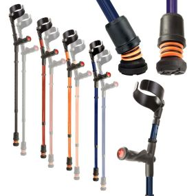 Flexyfoot Double Adjustable Comfy Grip Crutches