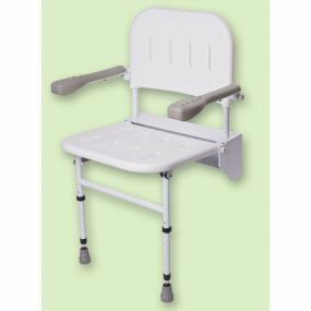 Folding Shower Seat With Legs Back And Arms