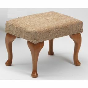 The Queen Anne High Seat Chair - Foot Rest (Biscuit)