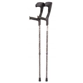 Forearm Crutches - Black And White Multi Pattern