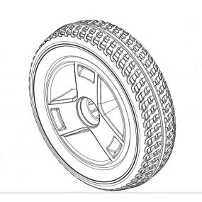 Pride GoGo Sport - Front Wheel & Tyre Assembly