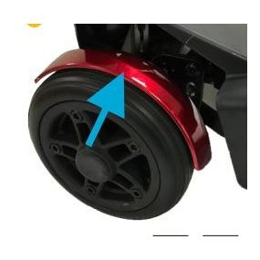 Drive Medical Flex Folding Scooter - Front Left Fender (Red)