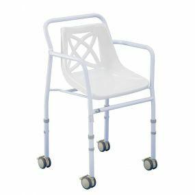Harrogate Shower Chair - Wheeled Adjustable Height