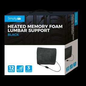 Heated Memory Foam Lumbar Support