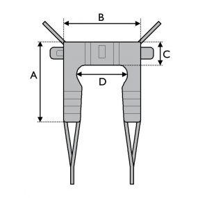 Invacare Transfer Stand Assist Sling - Medium