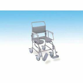 TransAqua Shower/Commode Chair - Self-propelled- Medium