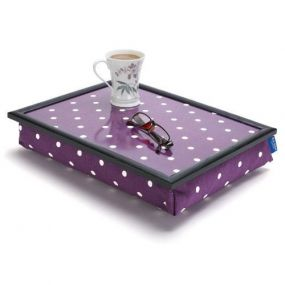 Lap Tray - Spotty Grape