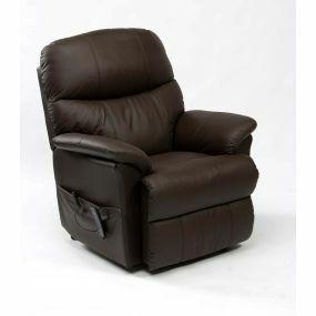 Lars Rise & Recline Armchair - Brown (Dual Motor)