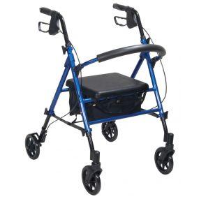 Aluminium Lightweight Rollator - Blue