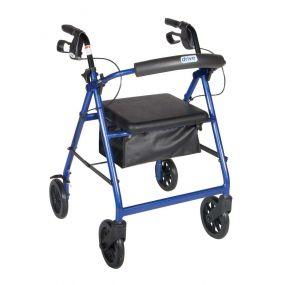 Lightweight Aluminium Rollator With Bag (6 Inch Wheels) - Blue