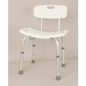 Lightweight Shower Stool With Back Rest