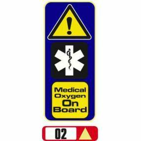Sticker Haus Medical Oxygen On Board sticker no 2