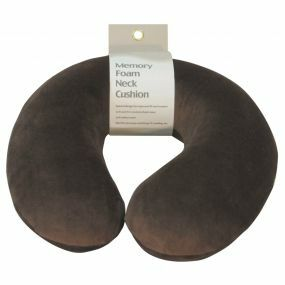 Memory Foam Neck Cushion - Brown