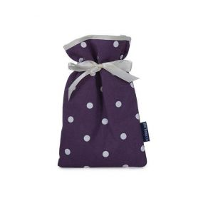 Mini Hot Water Bottle Spotty Grape Cover (0.5 Liters)