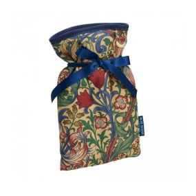 Mini Hot Water Bottle William Morris Golden Lily Cover (0.5 Liters)