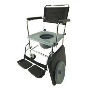Mobile Chrome Commode Chair (2 Brakes)