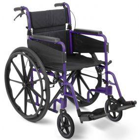 Escape Lite Self Propelled Wheelchair - Purple - Narrow