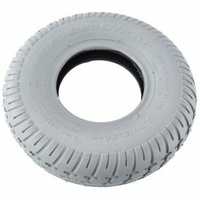 Primo - Pneumatic Grey Tyres - Pattern Block C9210 Square Type - Tyre Size 280/250 x 4