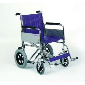 Heavy Duty Wide Car Transit Wheelchair - 20