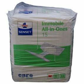 Senset All-In-One Immobile Briefs - Medium (PK15)