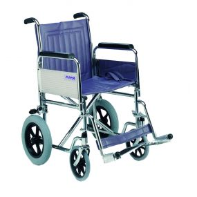 Standard Car Transit Wheelchair with Detachable Arms, and Swing Away Footrests - 18