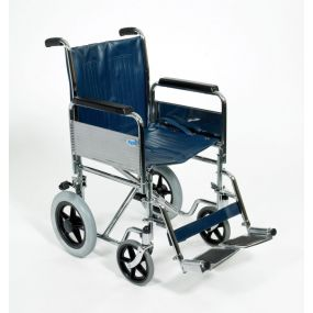 Transit Wheelchair With Detachable Armrests and Footrests - 18