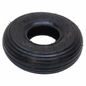 Impac - Pneumatic Black Tyre (Pattern Rib IS300) - Size: 260 x 85 (300 x 4)