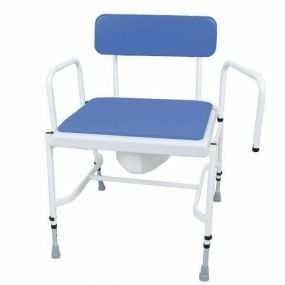 Extra Wide Commode - Adjustable Height - Detachable Arms