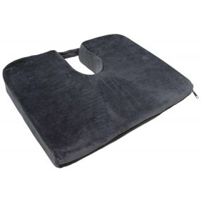 Restwell Velour Cover Wedge Cushion - Blue (18x14x3