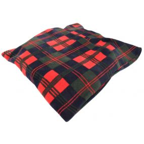 Harley Round cut-out Convoluted Fleece Cover Ring Cushion - Tartan (16x3