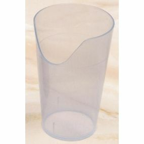 Nose Cut-out Beaker - Transparent Turquoise