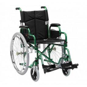 Superior Steel Self Propelled Wheelchair - Green- 18