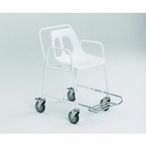 Mobile Shower Chair with Footrest
