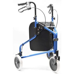 Blue Alloy Tri- Walker With Loop Brakes