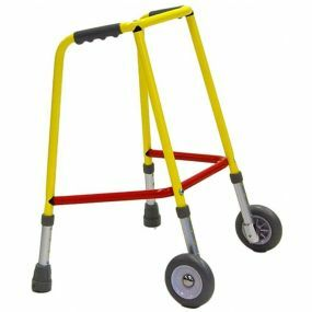 Coloured Paediatric Walking Frame - With Wheels