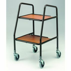 Adjustable Walking Trolley - Wooden Shelves